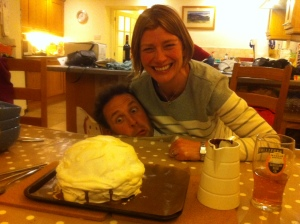 me, hectic and baked alaska